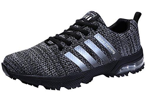 GUDEER Scarpe da Ginnastica Corsa Sportive Fitness Running Sport e Tempo Libero Sneakers Basse Interior Casual all'Aperto per Uomo Donna Ragazze e Ragazzi 8702grigio