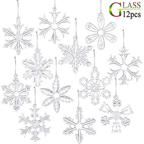 small clear glass ornaments - 6