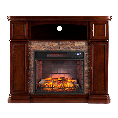 (Southern Enterprises Hillcrest Infrared Media Fireplace 47
