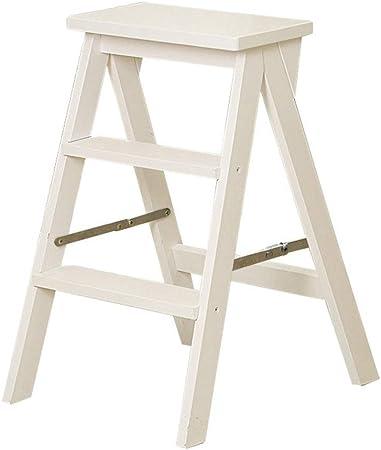 Ladder Stool Taburete Escalera de Madera de 3 escalones para Adultos y niños, para Interior de Cocina, Banco de Zapatos portátil/Estante de Flores escaleras de Madera taburetes pequeños: Amazon.es: Hogar