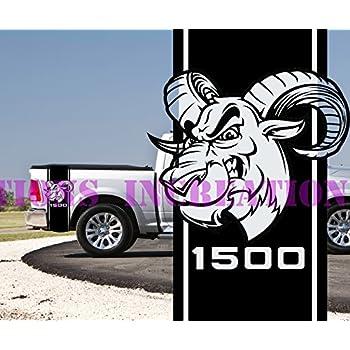 Dodge Ram Power hemi Muscle 4x4 Truck Bed Decal 1500 Sticker Stripe Vinyl 7651t