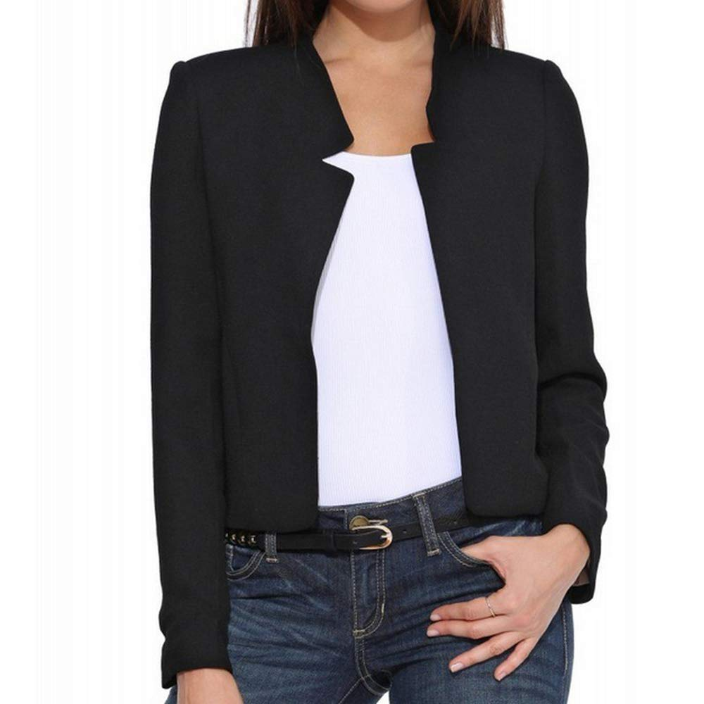 Yuehen Female Jacket Slim Plus Size Women Basic Coats 2017 Spring Chaquetas Open Stitch Black Jaqueta at Amazon Womens Coats Shop
