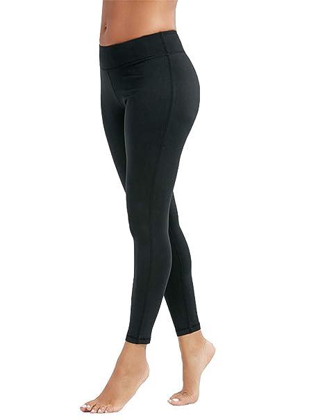 7ff1adbf4d55e Manstore Women's Tights Active Yoga Running Pants Workout Leggings Yoga Gym  Capri Leggings Pants Black S