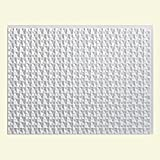 "Fasade Easy Installation Terrain Gloss White Backsplash Panel for Kitchen and Bathrooms (18"" x 24"" Panel)"