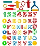 Kiddy Dough 42-Piece Play Dough Tool Kit & Clay Party Pack w/Letters and Numbers – Mega Tool Playset Includes 45 Colorful Cutters, Molds, Rollers & Play Accessories + 2 BONUS Surprise Dough Extruders