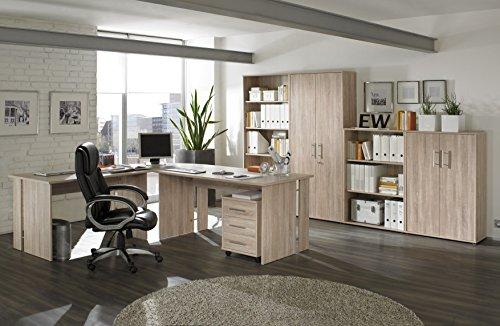 Komplettes Arbeitszimmer, Büromöbel in Eiche 8-teilig