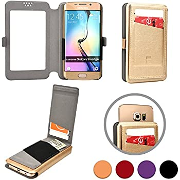 Cooper Cases(TM) Slider Flip Intex Aqua 4.5E / Aqua Speed/Aqua Y2 Remote Smartphone Wallet Case in Gold