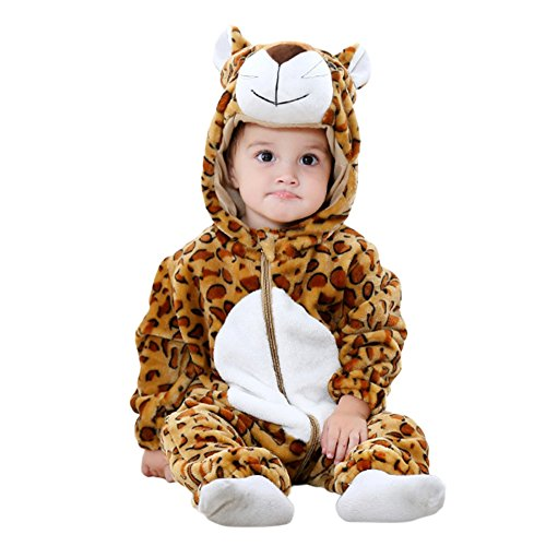 Zantec Unisex Baby Flanell Tier Geformt Strampler Nette Footless Overall Outfits Tiger