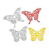 embossing and cutter dies - RoseSummer 2pcs Metal Butterfly Cutting Dies Stencils For DIY Scrapbooking