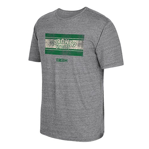 - adidas NHL Toronto St. Pats CCM Heritage 1 Tri-Blend Short Sleeve Tee, Large, Dark Grey Heathered