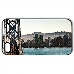 The Intersection - Case Cover for iPhone 4 and 4s (Bridges Series, Watercolor style, Black)