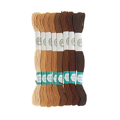 Homeford Cotton Embroidery Floss, 8.7-Yard, 8-Count (Natural Selection)