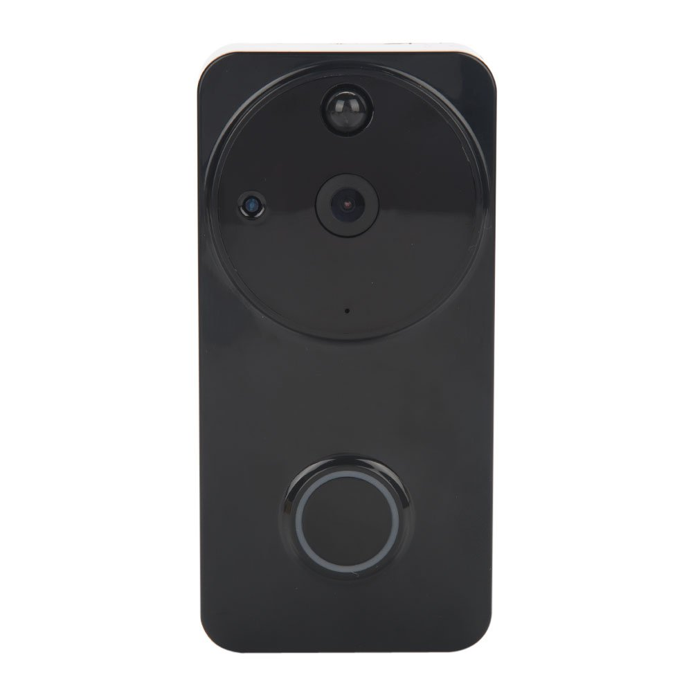 Video Doorbell, Smart Wireless WiFi HD Door Bells Home Security Camera Video Wide-angle Lens Night Vision Doorbell with Real-Time Video and Two-Way Talk App Control for IOS and Android (Black)