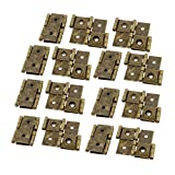 uxcell 46mmx54mm Retro Style Double Acting Folding Screen Hinge Bronze Tone 15pcs