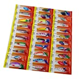30Pcs Fishing lures Assorted Feather Mental Crankbaits With Sharp Treble Hooks Spoon Lure bait Fishing Accessories Kit