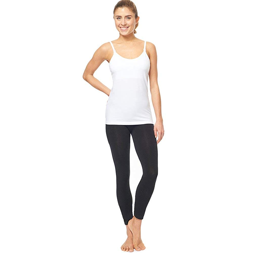 3 Pack 3 Style Clip-Down Double Opening Maternity Nursing Tank Top and Cami Shirts Clothes for Mothers Breast Feeding