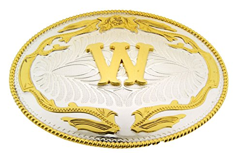 Halloween Costumes Letter W (Initial Letter W Western Style Cowboy Rodeo Gold Costume Halloween Belt)