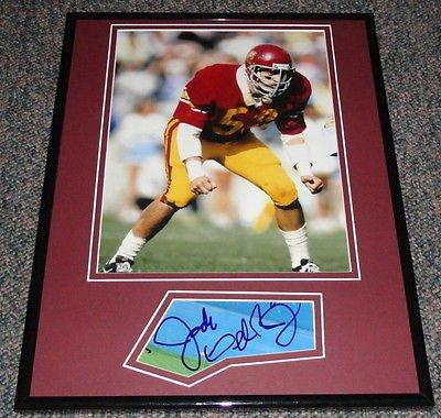 Jack Del Rio Signed - Jack Del Rio Signed Framed 11x14 Photo Display USC Vikings Jaguars
