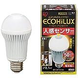 アイリスオーヤマ LED電球 E26口金 50W形相当 電球色 下方向タイプ 人感センサー エコハイルクス LDA8LHS1 -