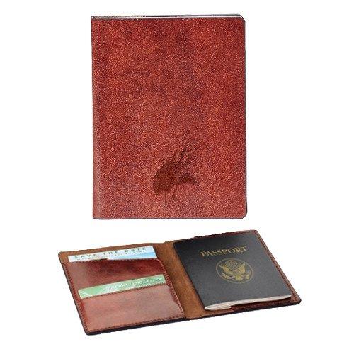 Elizabeth City State Fabrizio Brown RFID Passport Holder 'Viking Head Engraved'