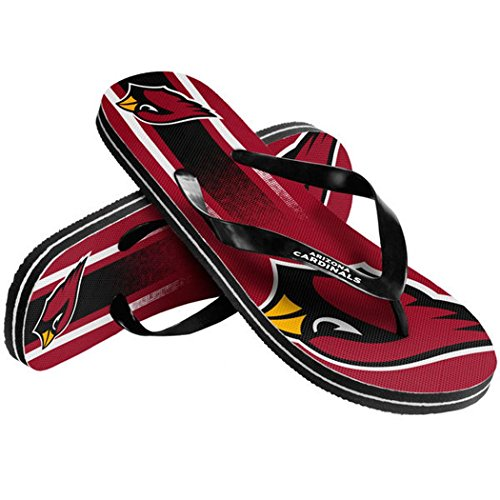 Cardinals Flip Flop - NFL Football Unisex Gradient Big Logo Beach Summer Flip Flop Sandals - Pick Team (Arizona Cardinals, Large)