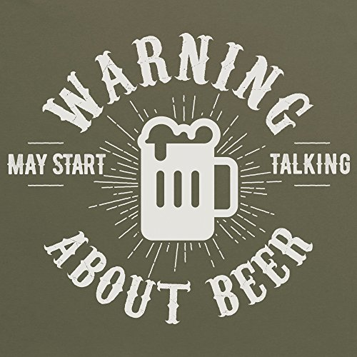 May Start Talking About Beer Camiseta Funny Novelty Gift, Para mujer Verde oliva