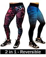 Women's Workout Leggings - Reversible Leggings