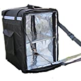 PK-96Z: Insulated Food Delivery Bag, Thermal Pizza Delivery Backpack, Keep Hot, Extra Large Pizza and Food Take Out Bag, Side Loading, 2-Way Zipper Closure, 16'' L x 16'' W x 24'' H