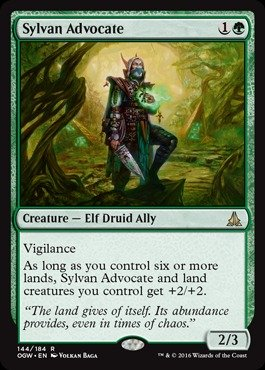 Magic: the Gathering - Sylvan Advocate (144/184) - Oath of the Gatewatch (Magic The Gathering Blue Green Deck Standard)