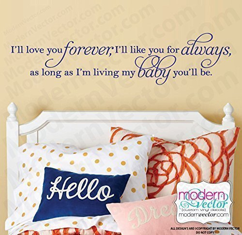(I'll Love you Forever My baby Vinyl Wall Decal)