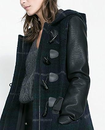 Zara deporte de pared para abrigos de cuadros chaqueta con tejido ...