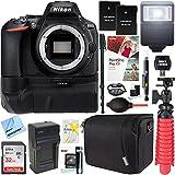 Nikon D5600 24.2MP Digital SLR Camera (Body Only) + 32GB Battery Grip Accessory Bundle