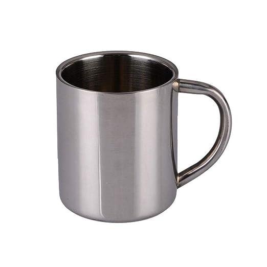 Taza de café de cobre, taza de acero inoxidable 304 de doble pared ...