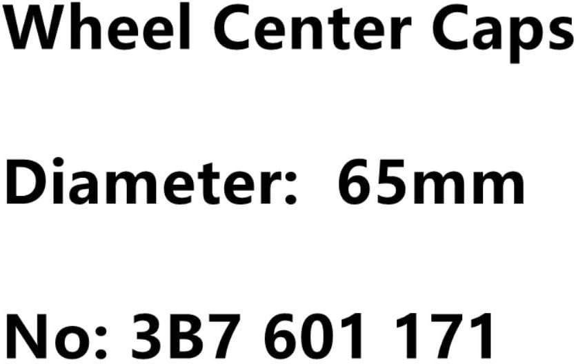 4pcs 65mm Black Silver Car Wheel Center Hub Caps Badge Emblem Logo For VW 3B7 601 171 Rim Caps Cover Car Styling Accessories