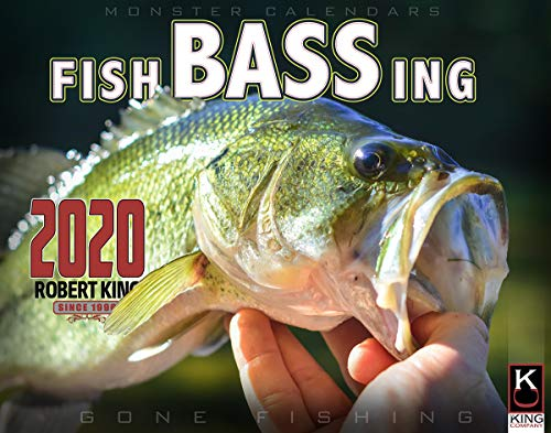 2020 Bass Fishing Calendar by The KING Company (Hunting And Fishing Best Times Calendar)