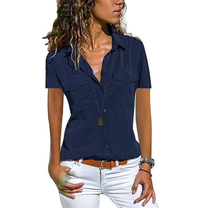 Camisetas de Mujer, Verano Camiseta de Mujer Tops Moda ...