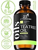 Art Naturals Tea Tree Essential Oil 4oz - 100% Pure Oils Therapeutic Grade Best for Acne, Skin, Hair, Nail Fungus, Healing Solution, Aromatherapy & Diffuser - 120ml Large Glass Bottle w/Dropper