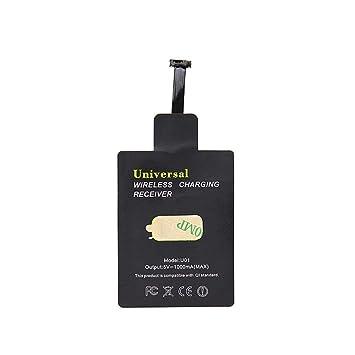 Universal cargador inalámbrico Qi Carga de Cine receptor inalámbrico microUSB para todos los teléfonos Android (interfaz de banda estrecha hacia ...