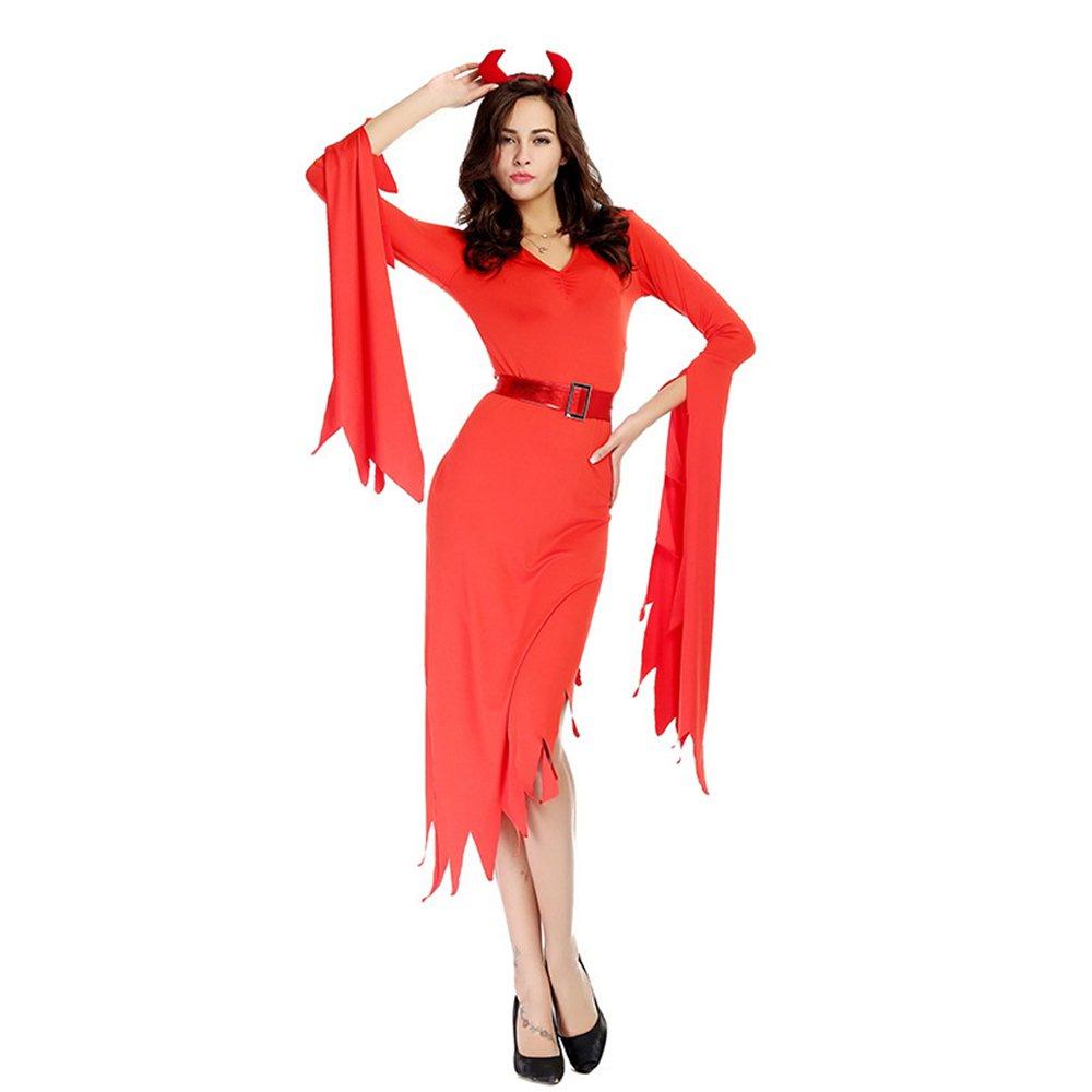 KTYX Hexe Spiel Kostüme Ou Dian Code Halloween Kostüme Große Rote Teufel Kostüme Halloween Kleider (größe : XL)