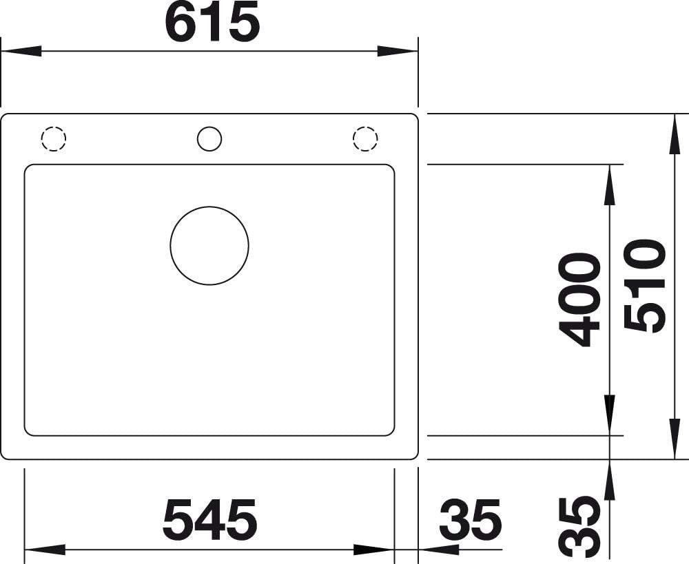 Blanco 523687/pleon 6/6/Silgranit Puradur Ultrasonido con mando a distancia Roca Gris
