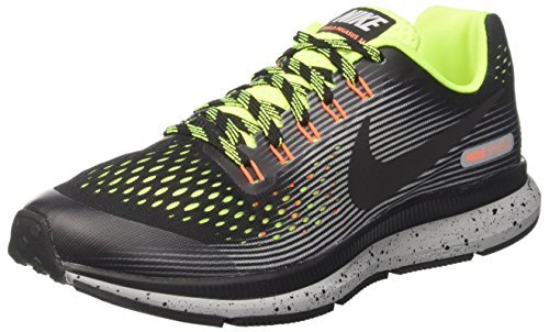 half off b4847 eec9a Galleon - NIKE Air Zoom Pegasus 34 Shield (GS) Running Shoes (1 Little Kid  M, Dark GreyReflect Silver)
