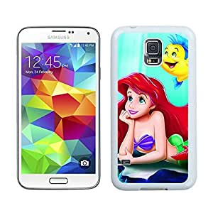 Durable Samsung Galaxy S5 Case Design with little mermaid in White