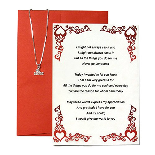 Birthday Gift for Mom From Son or From Daughter - Birthday Card and #1 Mom Charm and Necklace (3 Piece Gift Set)