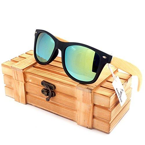 JapanX Bamboo Sunglasses & Wood Wooden Sunglasses for Men Women, Polarized Lenses Gift Box – Wooden Vintage Wayfarer Sunglasses - Bamboo Wood Wooden Frame – New Style Sunglasses (A2 - Glasses Japanese Frames Wooden