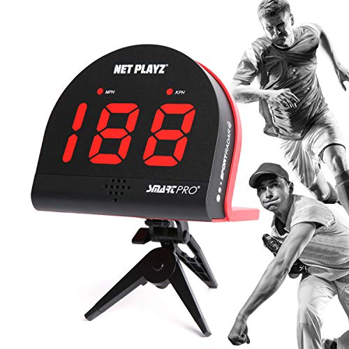 Net Playz Multi-Sports Personal Speed Radar Detector Gun, Measurement Baseball Pitching, Bat Swinging and Soccer Shooting Speed ()