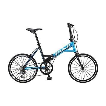 Fuji – Bicicleta plegable Origami 1.1 negro azul – Talla marco: 20