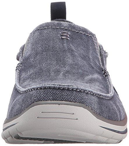 Skechers Mens Elected - Drigo Canvas Trainers blu