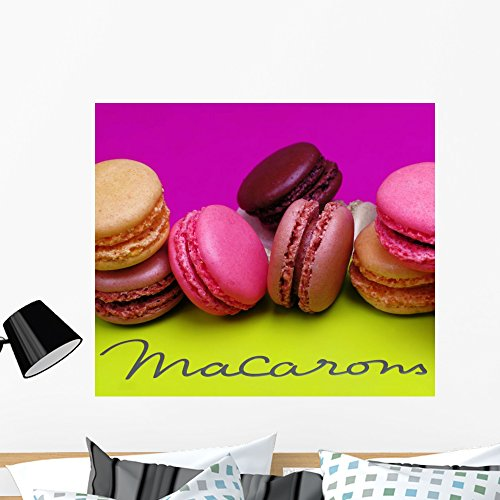 Praline Assortment - Wallmonkeys Macaroons Wall Mural Peel and Stick Graphic (36 in W x 31 in H) WM121740