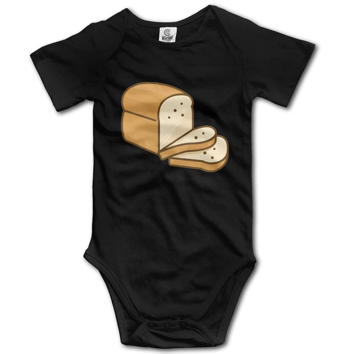 Cartoon Bread Printed Infant Baby Boy Girl Short Sleeve Bodysuits Coverall Jumpsuit