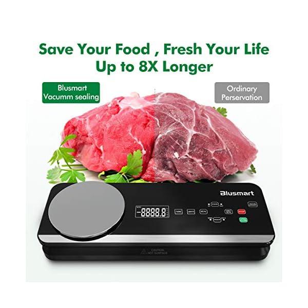 Macchina Sottovuoto per Alimenti Automatica Blusmart 80Kpa Macchina Sigillatrici con bilance da cucina integrate e… 6